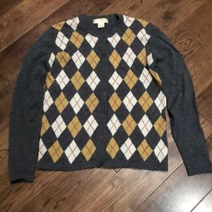 Vintage Brooks Brothers Argyle button down sweater